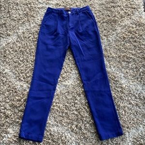 Cobalt blue pleated trousers from MADEWELL sz 4